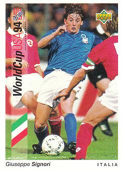 Giuseppe Signori Italy Upper Deck World Cup 1994 Preview Eng/Ger #93