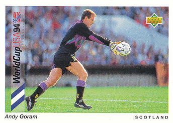 Andy Goram Scotland Upper Deck World Cup 1994 Preview Eng/Ger #95