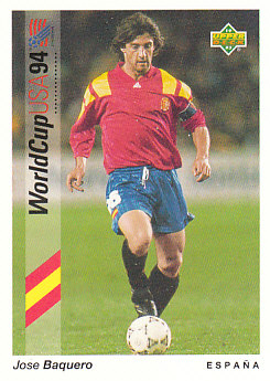 Jose Maria Baquero Spain Upper Deck World Cup 1994 Preview Eng/Ger #97