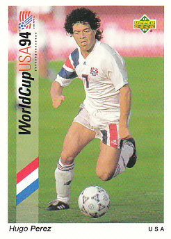 Hugo Perez USA Upper Deck World Cup 1994 Preview Eng/Ger #100