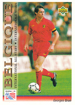 Georges Grun Belgium Upper Deck World Cup 1994 Preview Eng/Ger International All-Stars #103