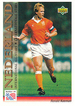 Ronald Koeman Netherlands Upper Deck World Cup 1994 Preview Eng/Ger International All-Stars #105
