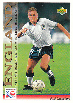 Paul Gascoigne England Upper Deck World Cup 1994 Preview Eng/Ger International All-Stars #107