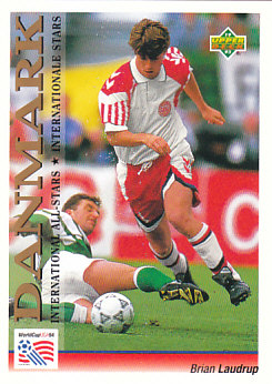 Brian Laudrup Denmark Upper Deck World Cup 1994 Preview Eng/Ger International All-Stars #111