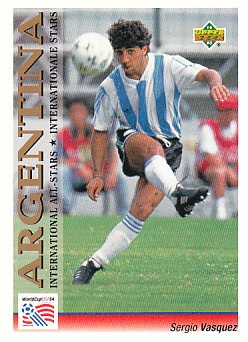 Sergio Vasquez Argentina Upper Deck World Cup 1994 Preview Eng/Ger International All-Stars #114