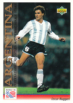 Oscar Ruggeri Argentina Upper Deck World Cup 1994 Preview Eng/Ger International All-Stars #116