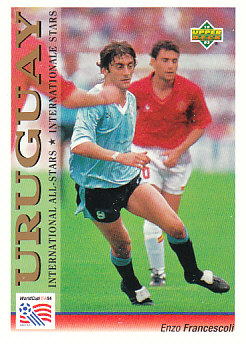 Enzo Francescoli Uruguay Upper Deck World Cup 1994 Preview Eng/Ger International All-Stars #117
