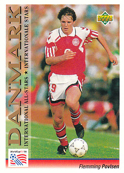 Flemming Povlsen Denmark Upper Deck World Cup 1994 Preview Eng/Ger International All-Stars #122