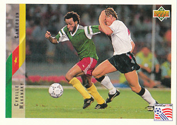 Cyrille Makanaky Cameroon Upper Deck World Cup 1994 Eng/Ger #189