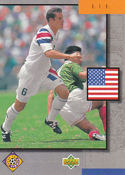 United States USA Upper Deck World Cup 1994 Eng/Ger Road To Finals #UD11