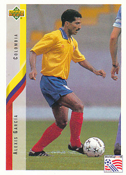 Alexis Garcia Colombia Upper Deck World Cup 1994 Eng/Ita #36