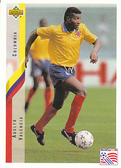 Adolfo Valencia Colombia Upper Deck World Cup 1994 Eng/Ita #39