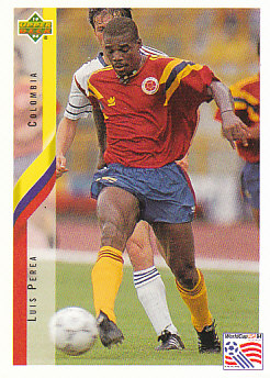 Luis Perea Colombia Upper Deck World Cup 1994 Eng/Ita #40