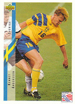 Kennet Andersson Sweden Upper Deck World Cup 1994 Eng/Ita #79