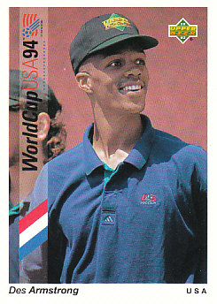 Des Armstrong USA Upper Deck World Cup 1994 Preview Eng/Spa #15