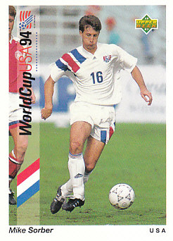Mike Sorber USA Upper Deck World Cup 1994 Preview Eng/Spa #16