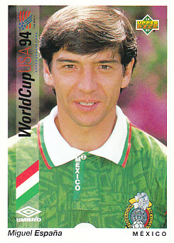 Miguel Espana Mexico Upper Deck World Cup 1994 Preview Eng/Spa #42