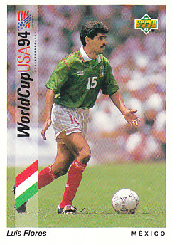 Luis Flores Mexico Upper Deck World Cup 1994 Preview Eng/Spa #43