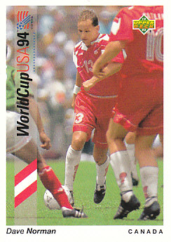 Dave Norman Canada Upper Deck World Cup 1994 Preview Eng/Spa #50