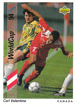Carl Valentine Canada Upper Deck World Cup 1994 Preview Eng/Spa #55