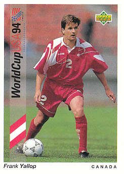 Frank Yallop Canada Upper Deck World Cup 1994 Preview Eng/Spa #56