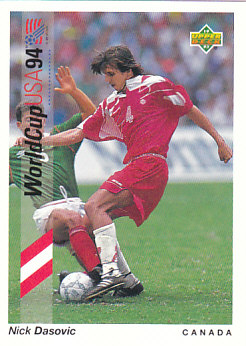 Nick Dasovic Canada Upper Deck World Cup 1994 Preview Eng/Spa #58