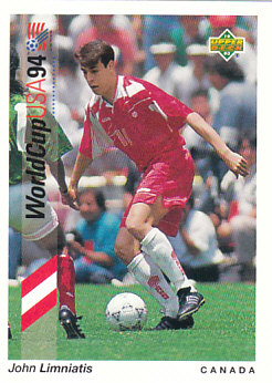 John Limniatis Canada Upper Deck World Cup 1994 Preview Eng/Spa #62