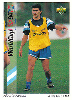 Alberto Acosta Argentina Upper Deck World Cup 1994 Preview Eng/Spa #63