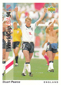 Stuart Pearce England Upper Deck World Cup 1994 Preview Eng/Spa #78
