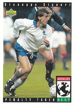Giuseppe Signori Italy Upper Deck World Cup 1994 Preview Eng/Spa Worlds Best #111