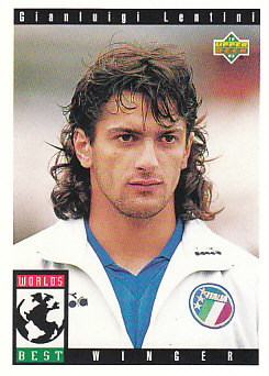Gianluigi Lentini Italy Upper Deck World Cup 1994 Preview Eng/Spa Worlds Best #114
