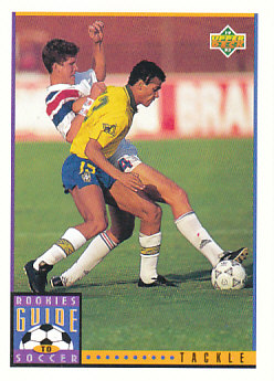 Tackle Upper Deck World Cup 1994 Preview Eng/Spa Rookies Guide to Soccer #120