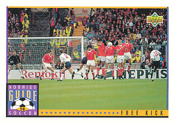 Free Kick Upper Deck World Cup 1994 Preview Eng/Spa Rookies Guide to Soccer #122