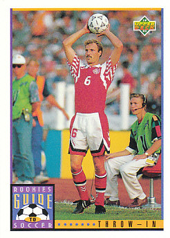 Throw-in Upper Deck World Cup 1994 Preview Eng/Spa Rookies Guide to Soccer #127