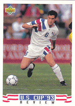 John Harkes USA Upper Deck World Cup 1994 Preview Eng/Spa US Cup 93 Review #134