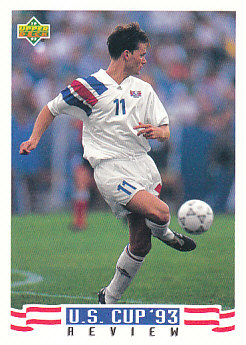 Eric Wynalda USA Upper Deck World Cup 1994 Preview Eng/Spa US Cup 93 Review #135