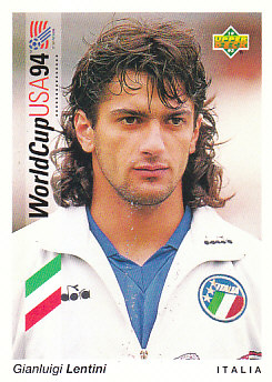Gianluigi Lentini Italy Upper Deck World Cup 1994 Preview Ita/Spa #24