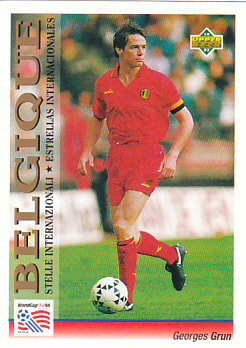 Georges Grun Belgium Upper Deck World Cup 1994 Preview Ita/Spa International All-Star #103