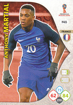 Anthony Martial France Panini 2018 World Cup #148