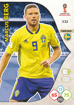 Marcus Berg Sweden Panini 2018 World Cup #332