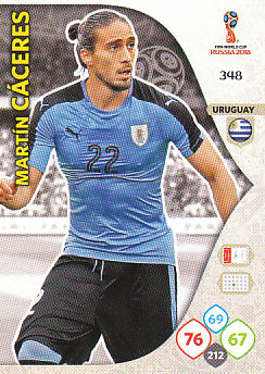 Martin Caceres Uruguay Panini 2018 World Cup #348