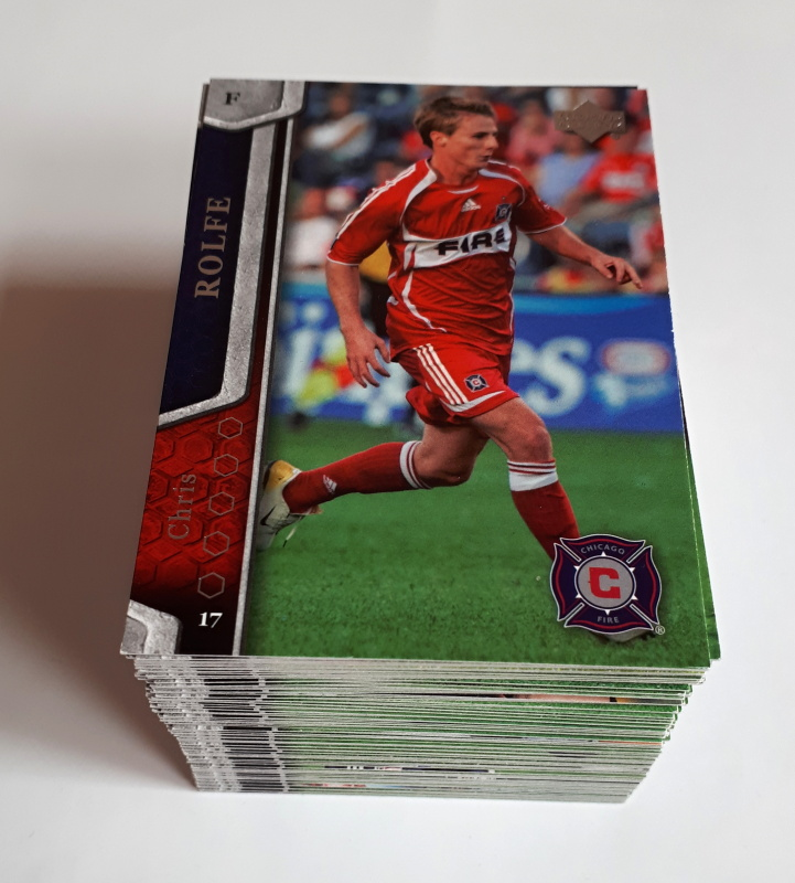 2007 Upper Deck MLS Soccer Kompletní set 100 karet
