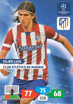Filipe Luis Atletico Madrid 2013/14 Panini Champions League #58