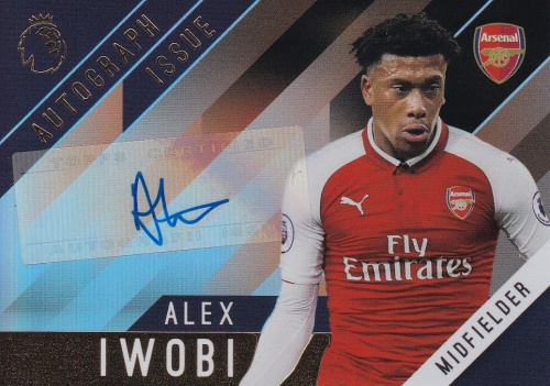 Alex Iwobi Arsenal AUTOGRAPH 2017/18 Topps Premier League Gold Autograph #ALIW