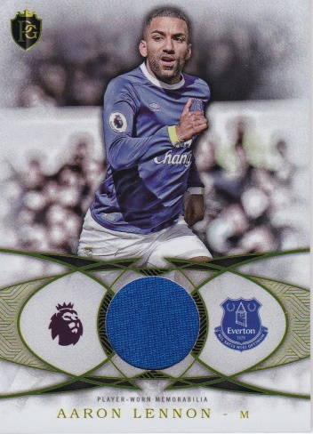 Aaron Lennon Everton JERSEY 2016 Topps Premier Gold Football Fibers Relics #FFALE