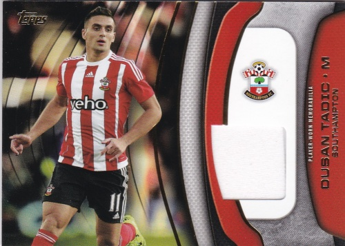 Dusan Tadic Southampton JERSEY 2015/16 Topps Premier Gold Football Fibers Relics #FFDT