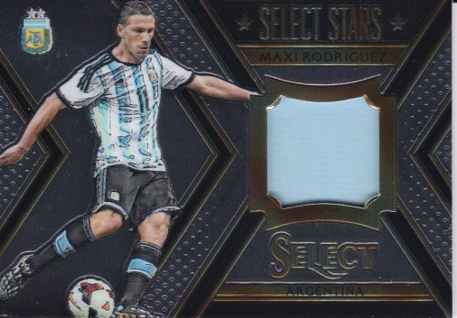 Maxi Rodriguez Argentina JERSEY 2015/16 Panini Select Select Stars Memorabilia /199 #STMXR