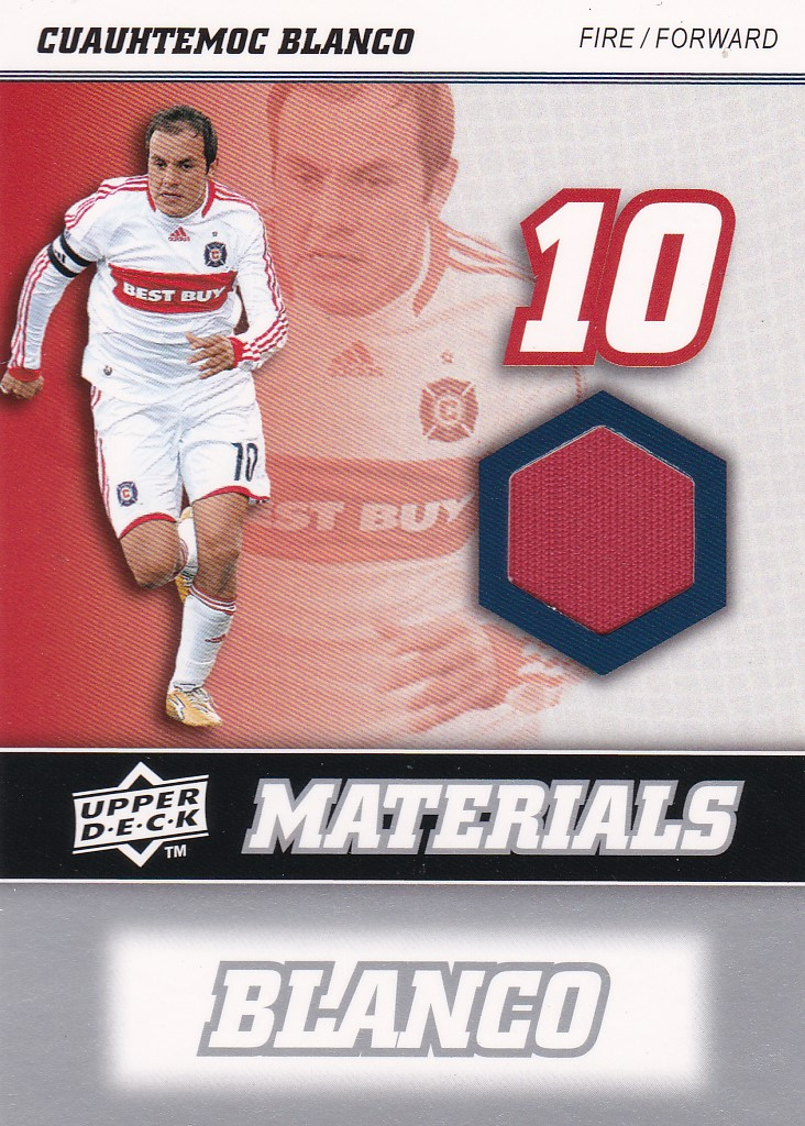 Cuauhtemoc Blanco Chicago Fire JERSEY 2008 Upper Deck MLS MLS Materials #MM4