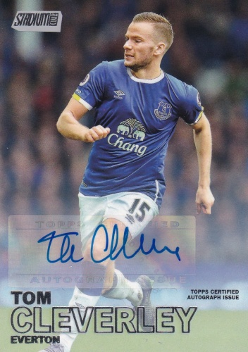 Tom Cleverley Everton AUTOGRAPH 2016 Topps Stadium Club Premier League Autographs