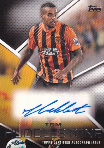 Tom Huddlestone Hull City AUTOGRAPH 2014 Topps Premier Gold Premier Autographs #PATH